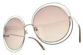 Chloe 太陽眼鏡 CE114SD 769 (銀-棕鏡片) 仙氣造型大圓框 墨鏡 # 金橘眼鏡