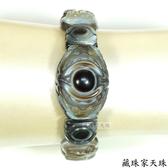 《藏珠家天珠》精品雙龍聚財+黃財神天眼天珠手排-手鍊