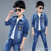 童裝男童牛仔外套春裝新款中大童男孩上衣兒童韓版夾克開衫潮-Ifashion