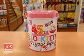 Hello Kitty 凱蒂貓 45週年 小圓罐存錢筒 撲滿 白 263853