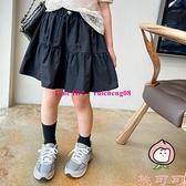 韓系女童純色蛋糕裙洋氣兒童半身裙中大童防走光裙褲【桃可可服飾】