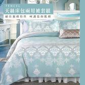 天絲/MIT台灣製造.雙人床包兩用被套組.賽納風情/伊柔寢飾