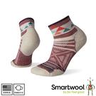 【SmartWool 美國 女 Phd 戶外輕量印花短筒襪《玫瑰粉》】SW001226/保暖襪/戶外襪/運動襪