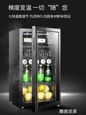 克斯 JC-95冷藏櫃冰吧家用小型客廳單門冰箱茶葉恒溫紅酒櫃MBS『潮流世家』