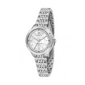 【Maserati 瑪莎拉蒂】TRAGUARDO晶鑽日期優雅鋼帶腕錶-銀白系/R8853112512/台灣總代理公司貨享兩年保固