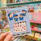 正版 蠟筆小新系列 美甲貼 指甲貼 文具貼 手帳貼 彩繪貼紙 藍色款 COCOS PF033