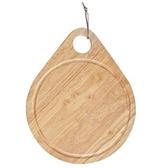HOLA home 橡膠木水滴型托盤砧板