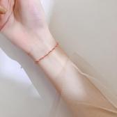 手練 925純銀圓珠紅繩手鍊個性簡約清新氣質學生手環韓版女閨蜜 特賣