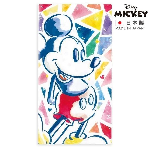 【 日本製 】日本限定 迪士尼 米奇 彩色三角版 口罩收納夾 / 口罩收納套