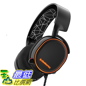 [美國直購] SteelSeries Arctis 5 黑色 電競 遊戲耳機 Gaming Headset with RGB Illumination and DTS Headphone