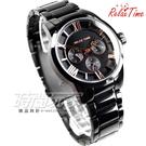 RELAX TIME 關詩敏 經典羅馬三眼時尚腕錶 女錶 IP電鍍黑x玫瑰金 RT-65-2L
