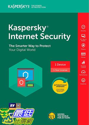 [7美國直購] 2018 amazon 亞馬遜暢銷軟體 Kaspersky Internet Security 2018 1 Device 1 Year Key Code