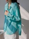 天絲白襯衫女2021年夏新款設計感小眾韓版寬松休閑薄款防曬衣外套