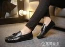 豆豆鞋-男士韓版皮鞋潮流懶人鞋快手紅人亮...