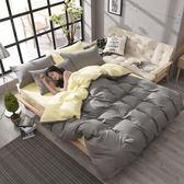 簡約純色床上用品素色四件套學生宿舍被套床單三件套jyjy【快速出貨八折搶購】