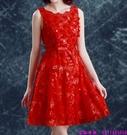 (45 Design) 訂製款 7天到貨洋裝 短禮服 蕾絲背心裙 繡花修身無袖 連身裙 小禮服14