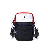 KANGOL 黑白紅三色側背小包-NO.6025301342