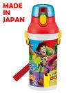 里和家居 迪士尼玩具總動員(方塊) 日本製單手彈蓋直飲水壺480ml 飲料壺