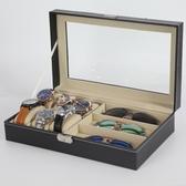 新款眼鏡收納盒18格展示盒太陽鏡展示架 全館免運