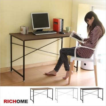 【RICHOME】簡單美學工作桌-胡桃色