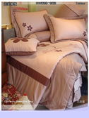 御芙專櫃床罩組【5*6.2尺】(雙人) *╮☆ 七件套高級精梳棉『花語露』粉˙ VIP獨享會員
