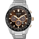 CITIZEN 星辰 亞洲限定光動能計時手錶-咖啡x銀/43mm CA4456-83X