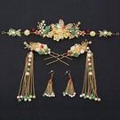 頭飾 中式新娘頭飾古裝流梳鳳冠步搖結婚配飾2020新款秀禾服頭飾套裝