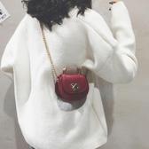 迷你小包包女包新款純色個性馬鞍包百搭chic鏈條單肩斜背包潮ATF 艾瑞斯生活居家