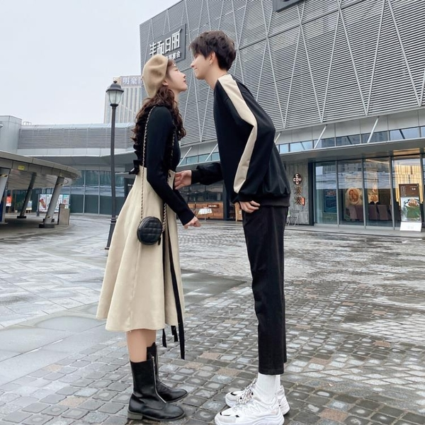 秋季新款roora法式情侶裝套裝一裙一衣女小眾設計感網紅店潮 【全館免運】