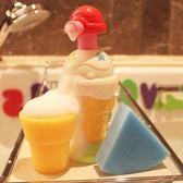 皇室冰激凌泡泡按壓機洗泡泡浴嬰幼兒童浴室沐浴寶寶戲水洗澡玩具