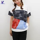 【春夏新品】American Bluedeer - 拼接花布T恤 二色  春夏新款
