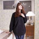 長版襯衫--女人的柔性美-側抓皺雙口袋造型長袖長版襯衫(黑.白.紫M-2L)-I99眼圈熊中大尺碼★