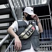 潮流腰包男2020新款斜背包多功能休閒胸包嘻哈個性學生單肩小背包