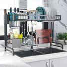水槽架 廚房不銹鋼水槽置物架碗碟架刀架瀝水架家用廚房收納架碗筷濾水架JD 伊蘿鞋包