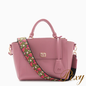 Pixy 波希米亞刺繡寬背帶手提包 乾燥玫瑰