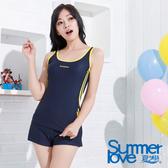 【SUMMERLOVE夏之戀】 運動款長版三件式泳衣-S15734