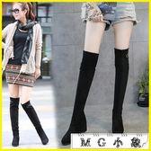 MG 膝上靴-筒靴彈力過膝長靴高跟單靴