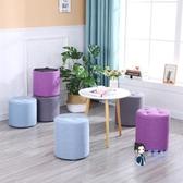 換鞋凳 布藝小凳子家用創意圓凳客廳沙發凳成人矮板凳實木腳凳坐墩換鞋凳T 9色
