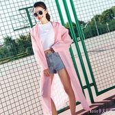 糖果色雨衣披肩外套單人旅游透明成人徒步男女式韓版風格長款雨披 DR18290【Rose中大尺碼】