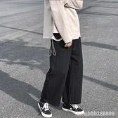 棉麻褲 夏季薄款哈倫棉麻褲子男直筒寬鬆九分闊腿褲潮日系墜感潮流亞麻褲 瑪麗蘇