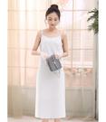 基本必備款 細肩帶連身長款襯裙-100cm (白 黑)兩色售 12070023