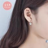 韓國個性氣質s925純銀五角星耳釘女冷淡風簡約清新星星耳環