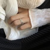 手工造物感錘面銀戒指 寬面 歐亞時尚 歐亞時尚