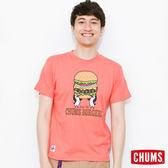 CHUMS 日本 男 漢堡 Burgers 純棉短袖T恤 粉紅 CH011120R018