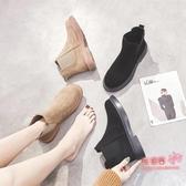 切爾西靴 女2019秋冬季新款韓版百搭學生復古切爾西靴平底短靴英倫風 2色35-40碼