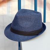 夏季英倫小禮帽大碼帽子女出游遮陽草帽草編女士爵士帽 免運