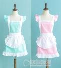 純棉圍裙 韓版時尚圍裙 可愛公主圍裙 工作服廚房圍裙奶茶店 草莓妞妞