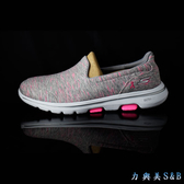 【懶人鞋】SKECHERS 女休閒運動鞋 高彈性設計適合久走久站者穿著 粉芋色+銀光絲鞋面  【3614】