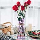 花瓶 花瓶玻璃透明加厚客廳擺件插花餐桌水培百合家居飾品