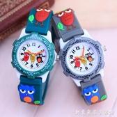 可愛小男孩貓頭鷹果凍手錶 卡通兒童學生石英防水電子錶 創意家居生活館